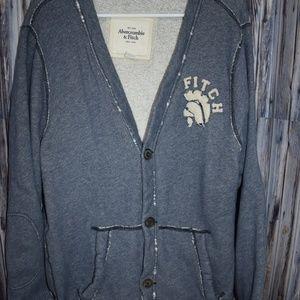 Abercrombie & Fitch Men's Sweatshirt Cardigan XXL